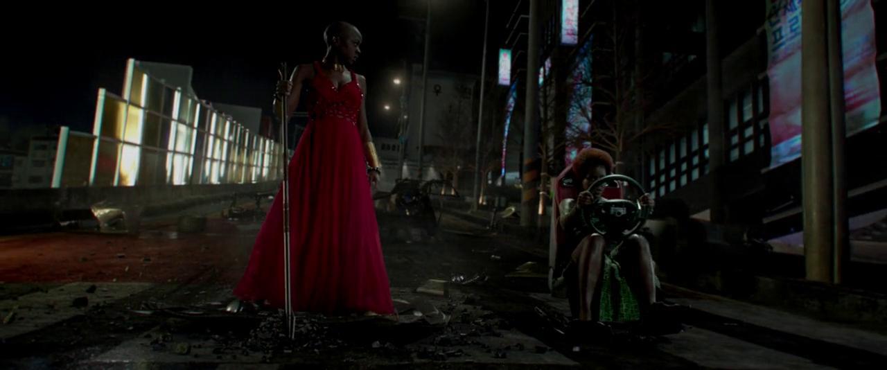Danai Gurira and Lupita Nyong'o in Black Panther (2018)