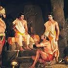 Sunil Lahri, Dara Singh, Shyamsundar Kalani, and Arun Govil in Ramayan (1987)