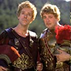 Stephen Fry and Hugh Laurie in Blackadder Back & Forth (1999)