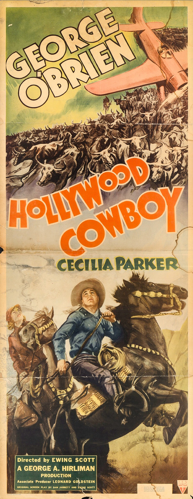 George O'Brien and Cecilia Parker in Hollywood Cowboy (1937)