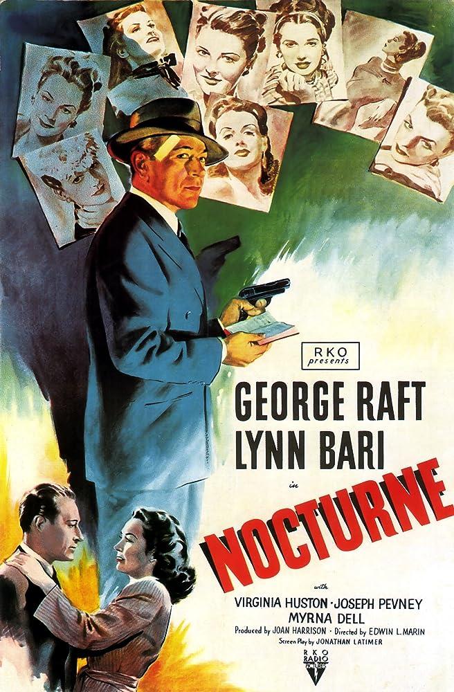 Lynn Bari, Virginia Huston, and George Raft in Nocturne (1946)