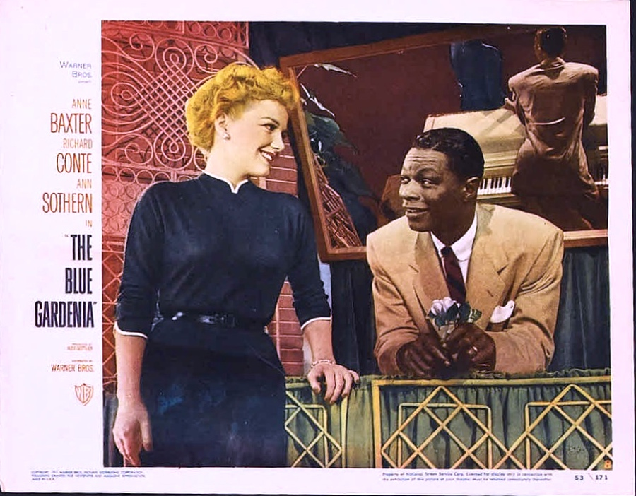 Anne Baxter and Nat 'King' Cole in The Blue Gardenia (1953)