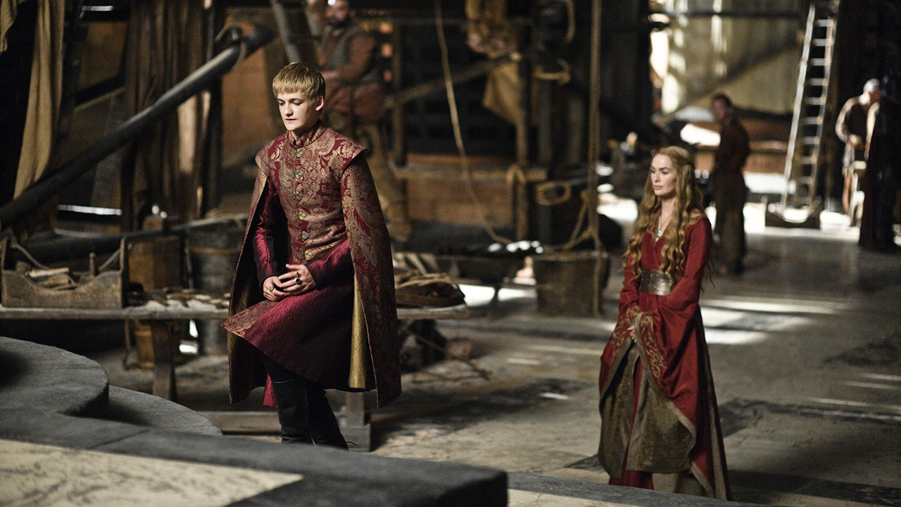 Jack Gleeson and Lena Headey in Game of Thrones (2011)