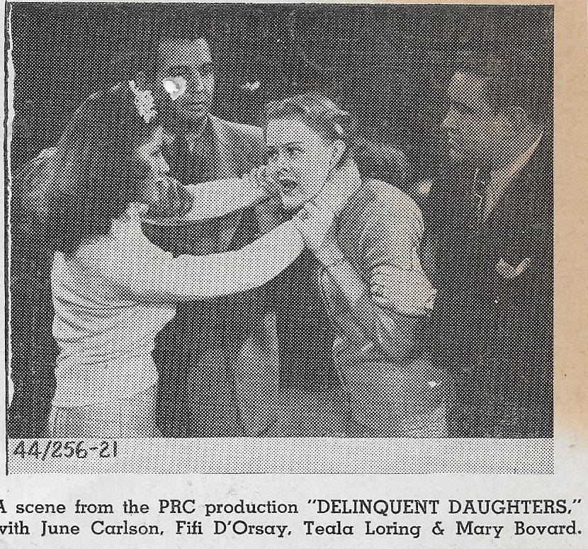 June Carlson, Floyd Criswell, Joe Devlin, and Teala Loring in Delinquent Daughters (1944)