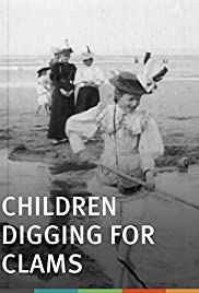 Children Digging for Clams Poster