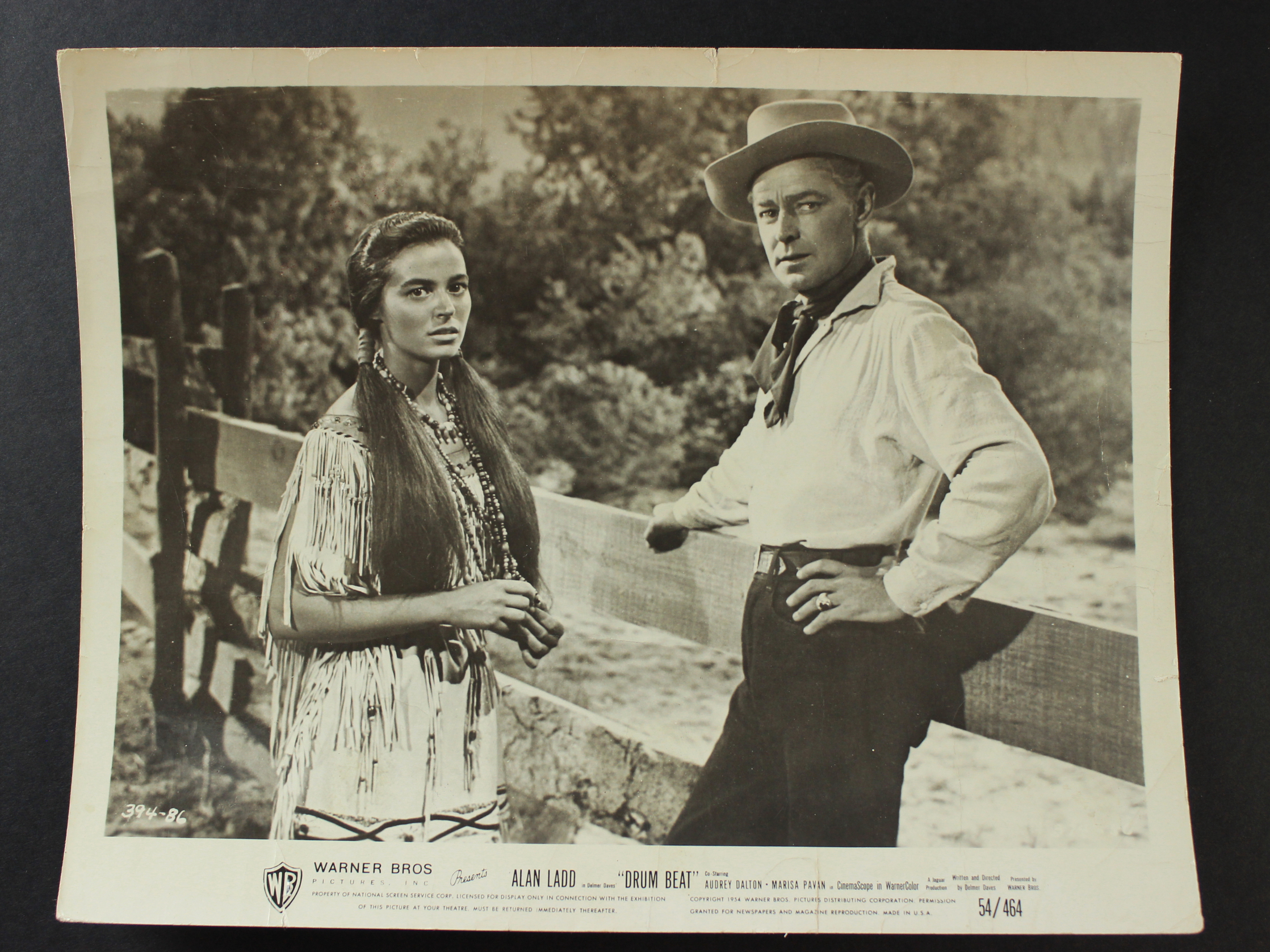 Alan Ladd and Audrey Dalton in Drum Beat (1954)