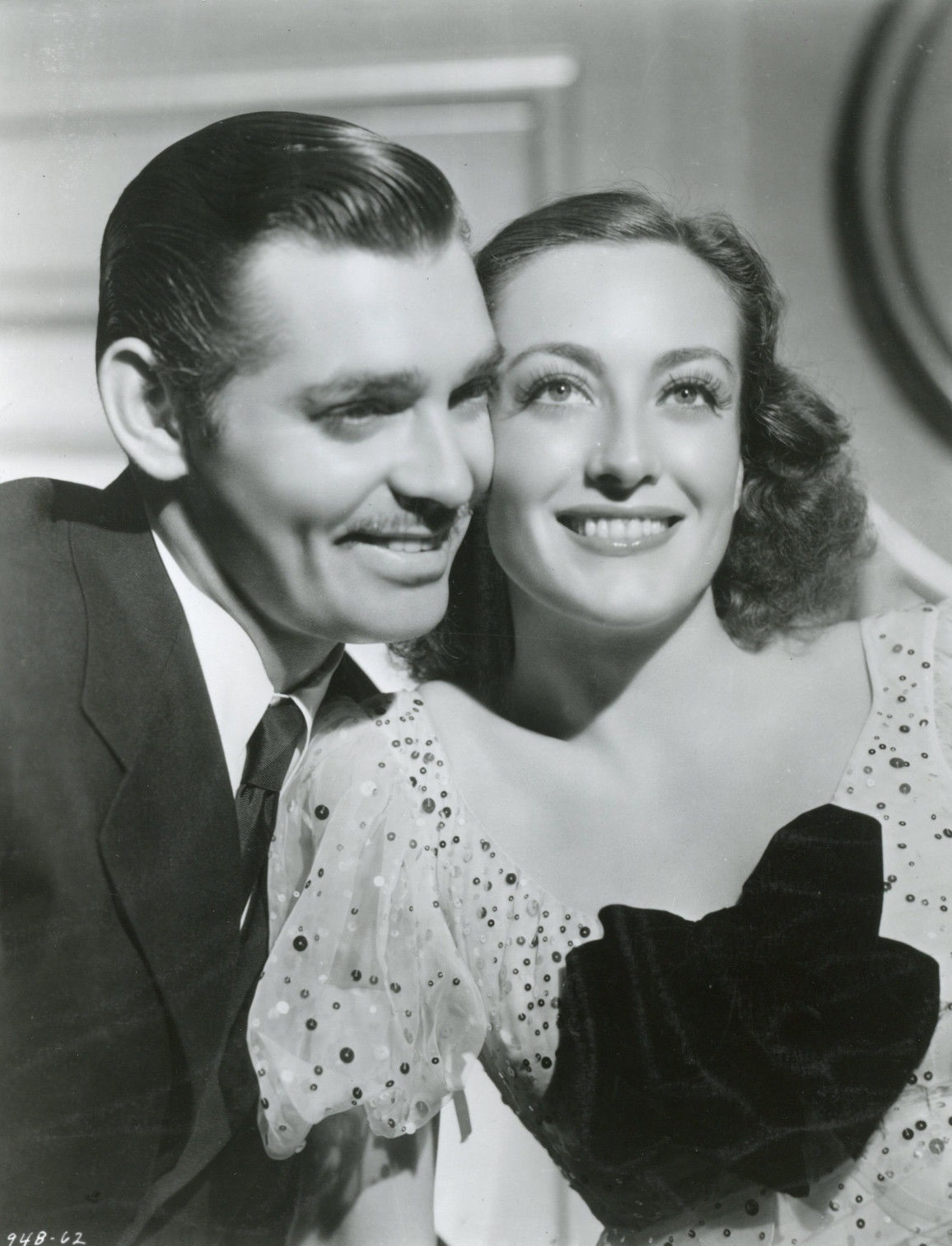 Clark Gable and Joan Crawford in Love on the Run (1936)