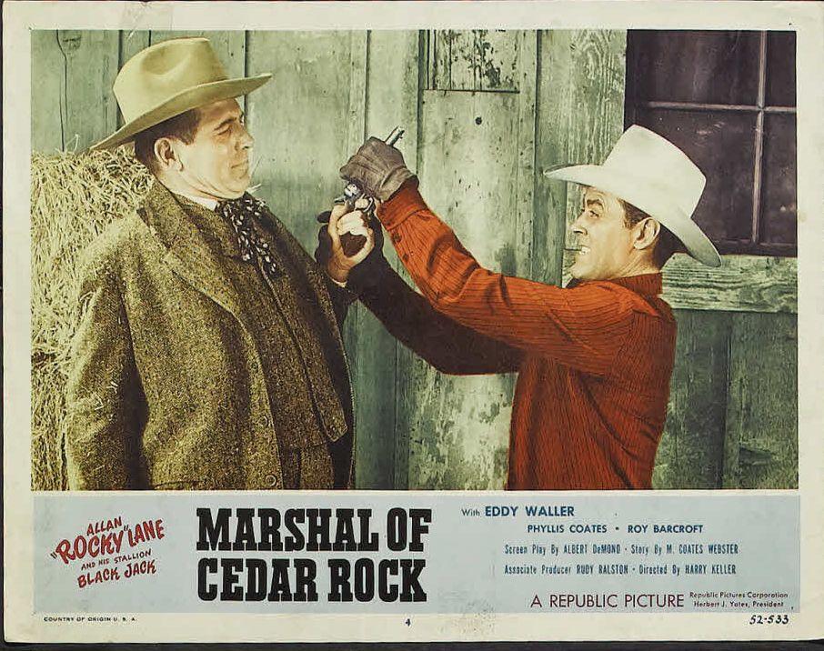 Allan Lane and Robert Shayne in Marshal of Cedar Rock (1953)