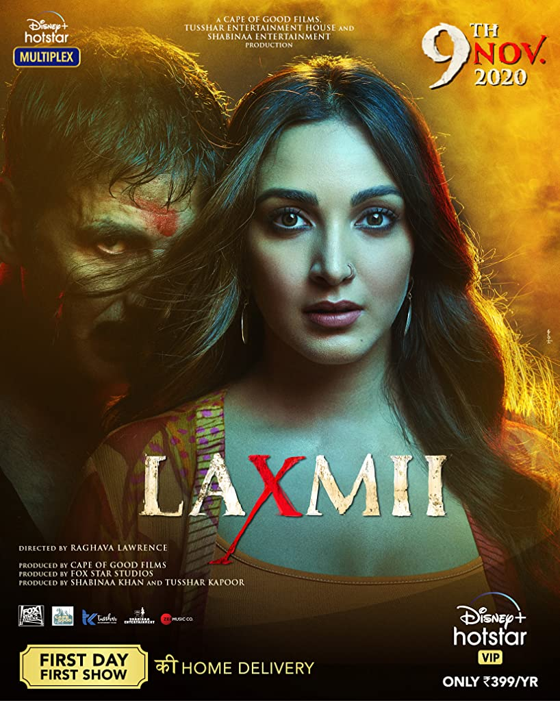 Laxmii 2020 Hindi 720p HEVC HDRip x265 AAC ESubs 700MB