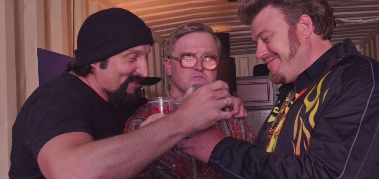 John Paul Tremblay, Mike Smith, and Robb Wells in Trailer Park Boys (2001)