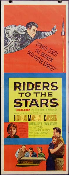 Herbert Marshall, Dawn Addams, Richard Carlson, Martha Hyer, and William Lundigan in Riders to the Stars (1954)