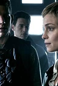 Laura Regan, Stark Sands, and Nick Zano in Minority Report (2015)