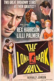 Rex Harrison and Lilli Palmer in The Long Dark Hall (1951)