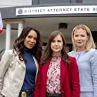 Lauren Holly, Kellie Martin, and Lucia Walters in Killer Sentence (2019)