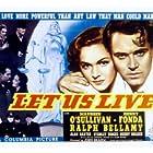 Henry Fonda, Ralph Bellamy, and Maureen O'Sullivan in Let Us Live (1939)