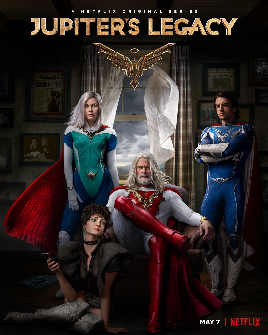 The first generation of superheroes has kept the world safe for nearly a century. Now their children must live up to their legacy in an epic drama that spans decades and navigates the dynamics of family, power and loyalty.