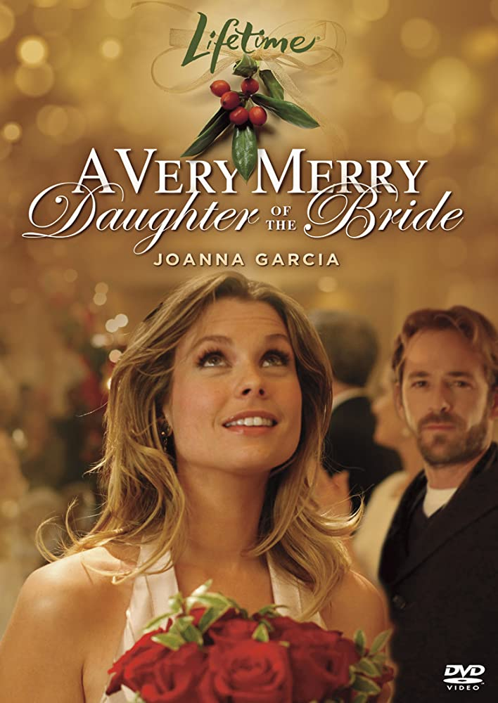 Luke Perry and JoAnna Garcia Swisher in A Very Merry Daughter of the Bride (2008)