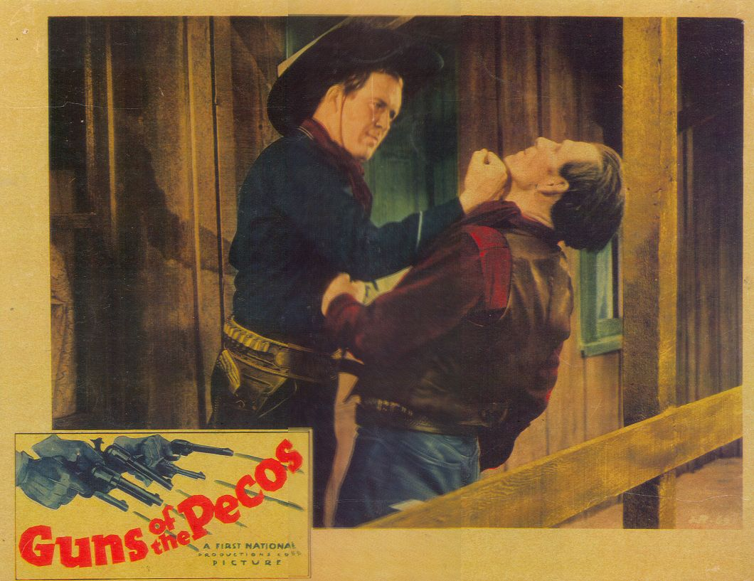 Dick Foran and Frank McCarroll in Guns of the Pecos (1937)