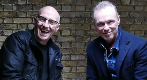 Gary Kemp and Midge Ure at an event for Smashing Hits! The 80s Pop Map of Britain & Ireland (2018)