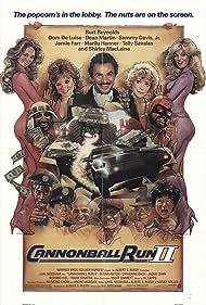 Marilu Henner, Shirley MacLaine, Burt Reynolds, Dom DeLuise, Dean Martin, Telly Savalas, Sammy Davis Jr., and Jamie Farr in Cannonball Run II (1984)