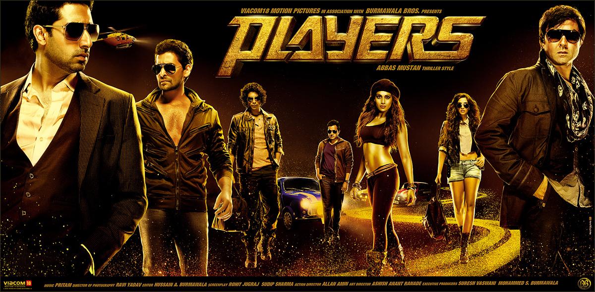 Abhishek Bachchan, Bipasha Basu, Bobby Deol, Omi Vaidya, Neil Nitin Mukesh, Sonam Kapoor, and Sikander Kher in Players (2012)