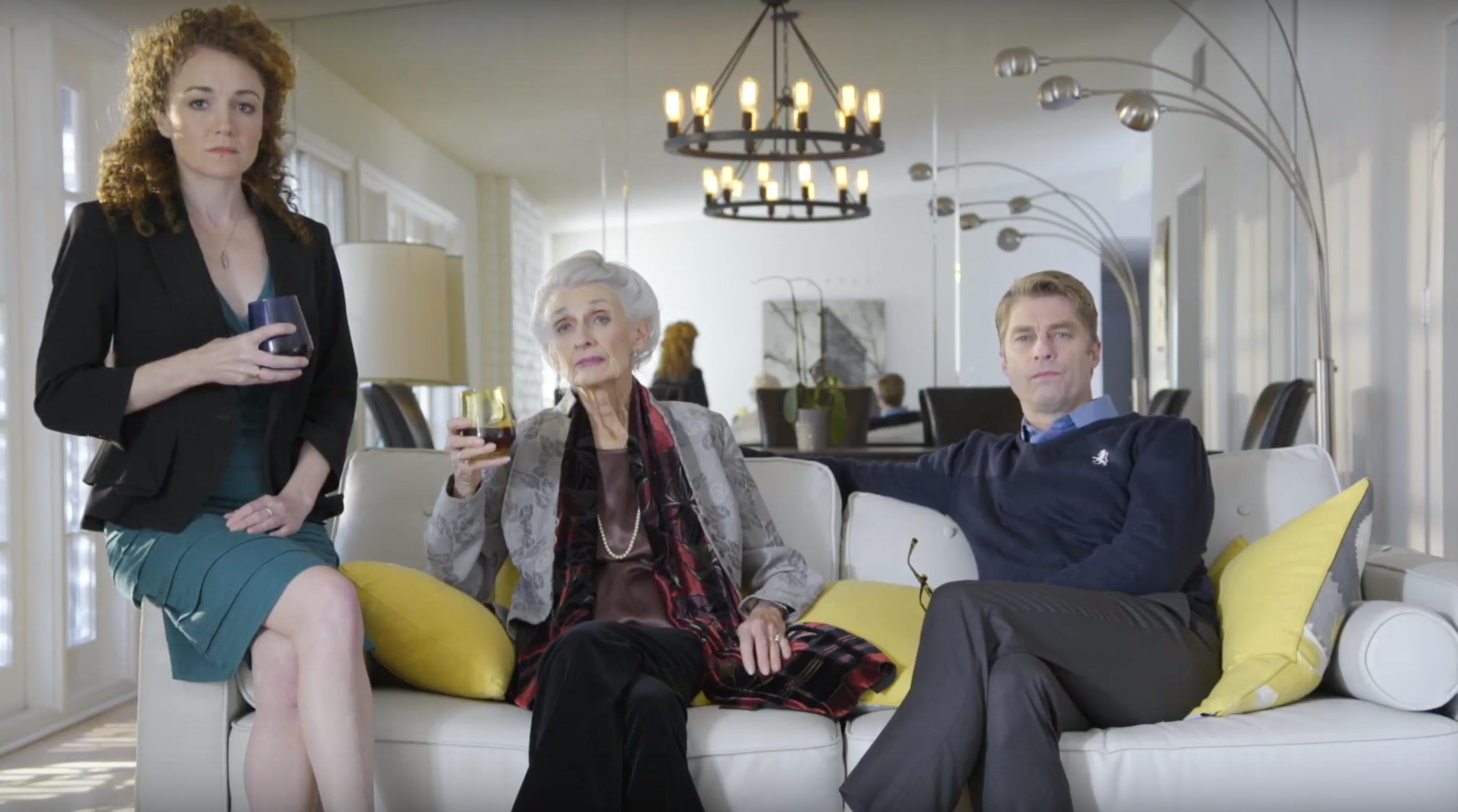 Jamison Jones, Irene Roseen, and Joanna Strapp in Borderline Talent (2018)