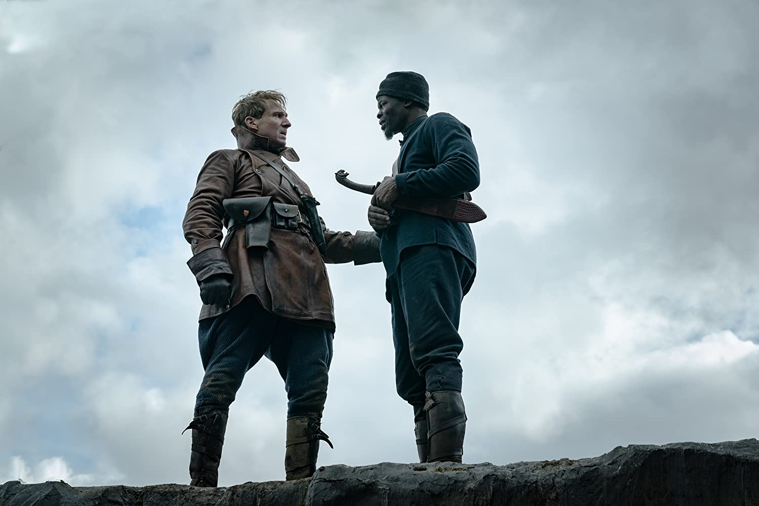 Ralph Fiennes and Djimon Hounsou in The King's Man (2020)