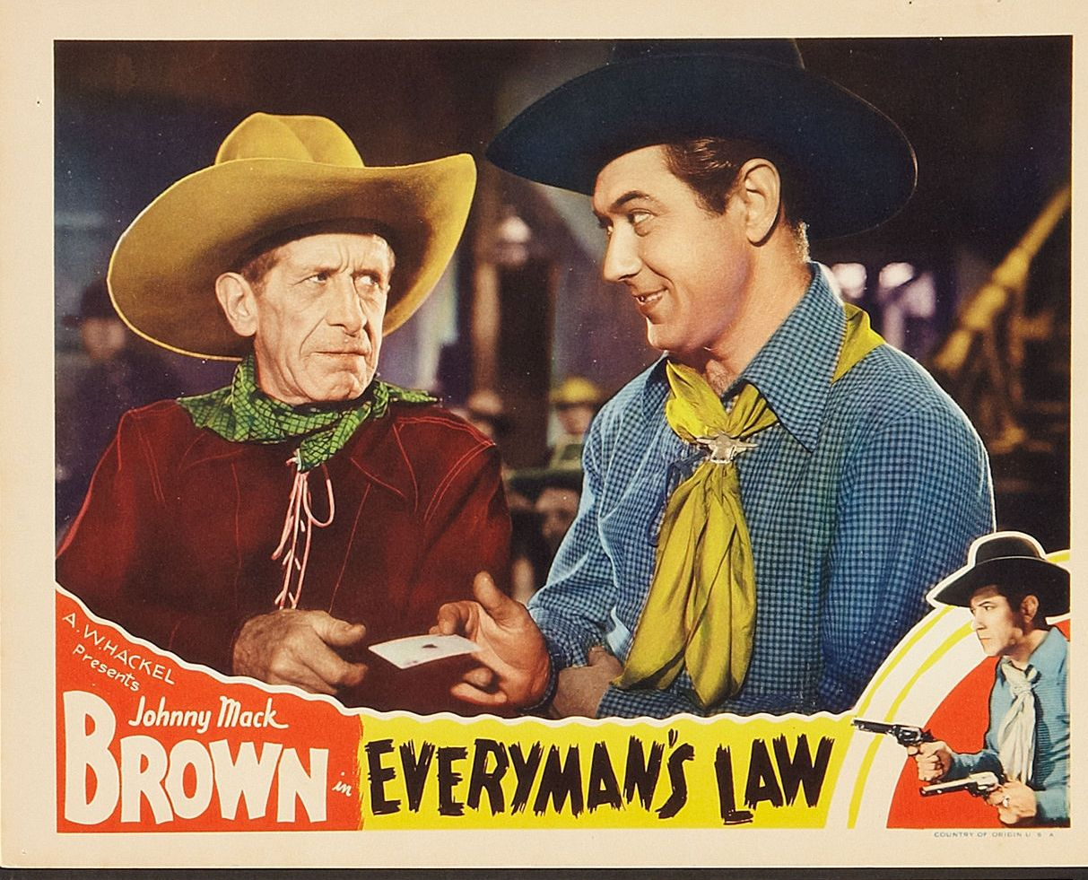 Johnny Mack Brown and Frank Campeau in Everyman's Law (1936)