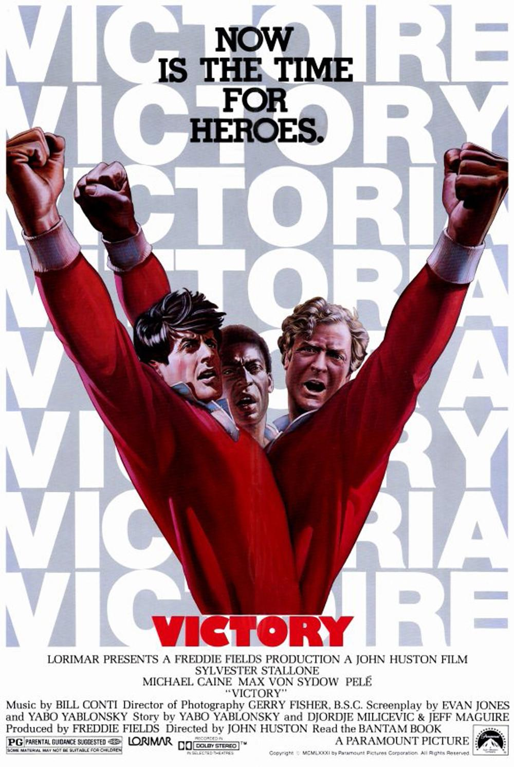 Sylvester Stallone, Michael Caine, and Pelé in Victory (1981)