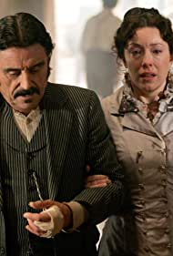 Ian McShane and Molly Parker in Deadwood (2004)