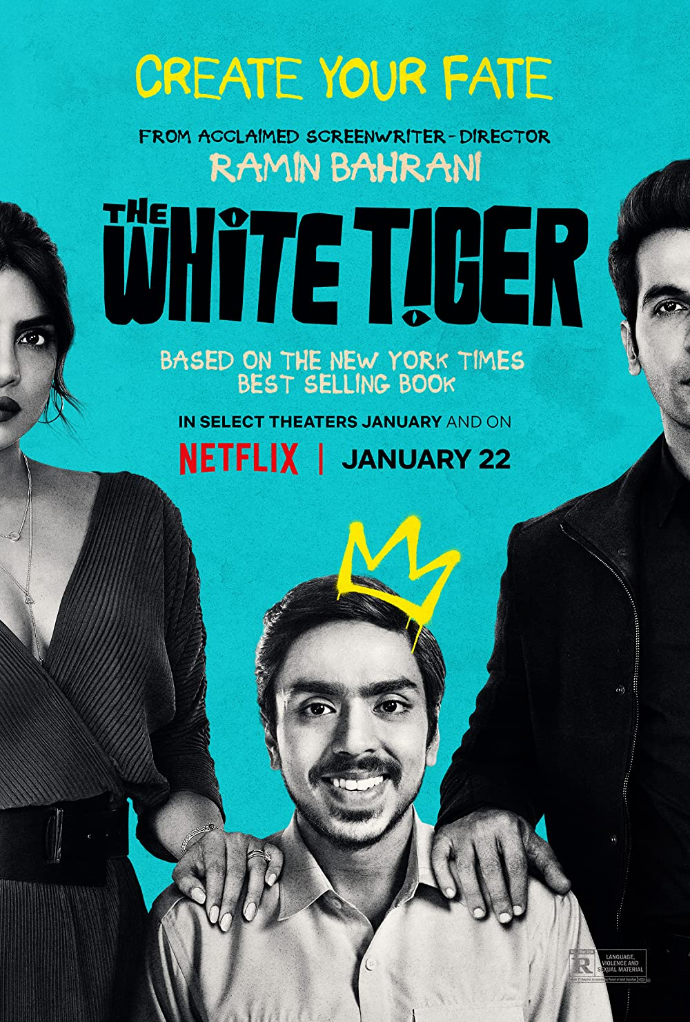 The White Tiger (2021) Hindi Movie 480p NF HDRip x264 ESubs 400MB