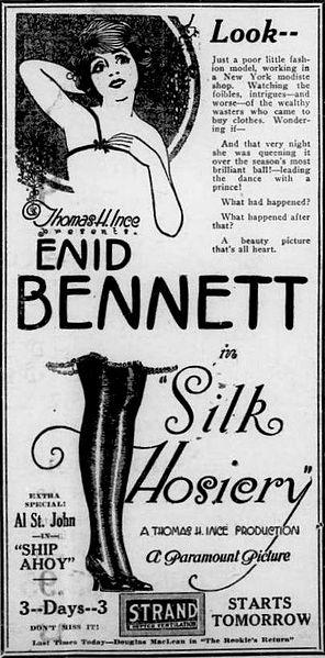 Enid Bennett in Silk Hosiery (1920)