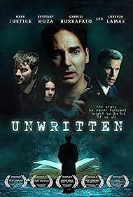 Lorenzo Lamas, Gabriel Burrafato, Mark Justice, and Brittany Hoza in Unwritten (2018)