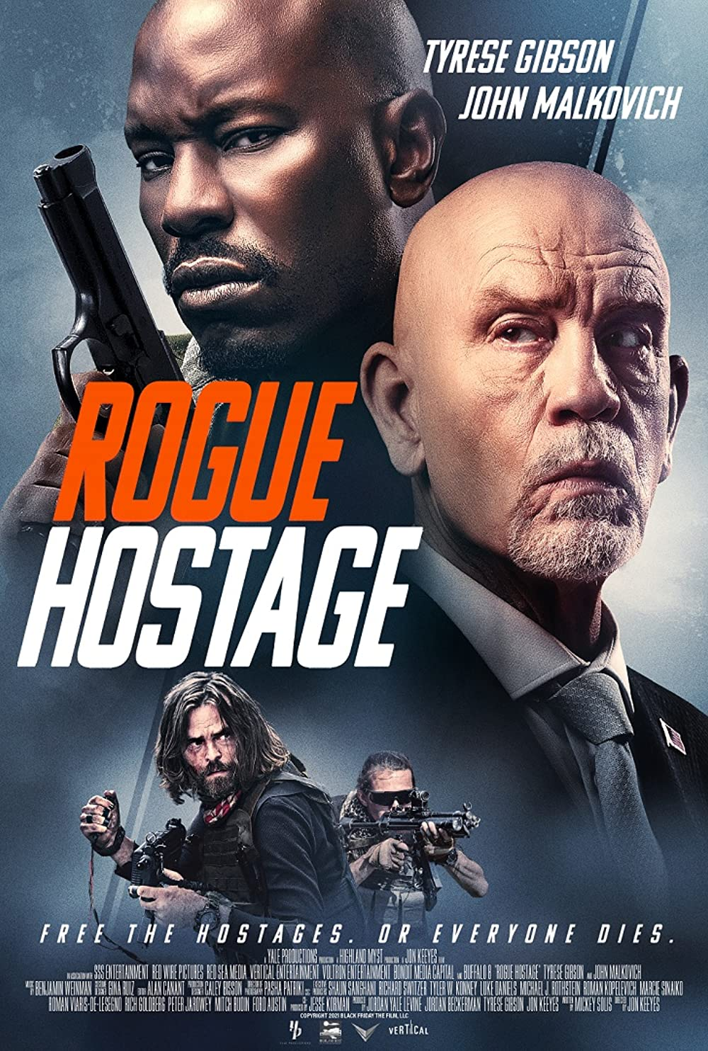 Rogue Hostage 2021 English Movie 720p HDRip 800MB Download