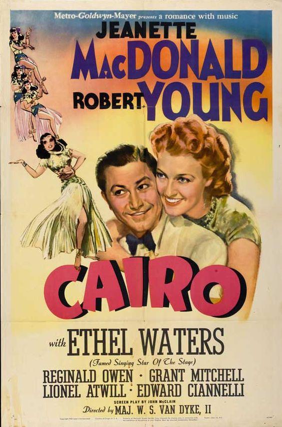 Robert Young, Jeanette MacDonald, Reginald Owen, and Ethel Waters in Cairo (1942)