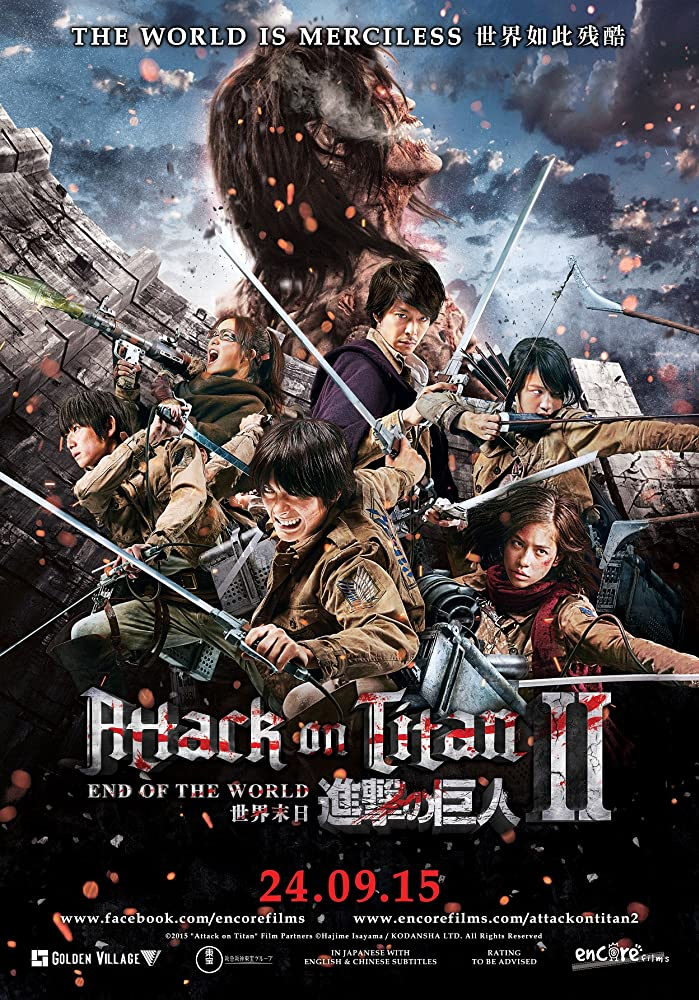 Attack On Titan II End Of The World (2015) UNRATED 720p [Hindi ORG DD 2.0 + Japanese 2.0] BluRay