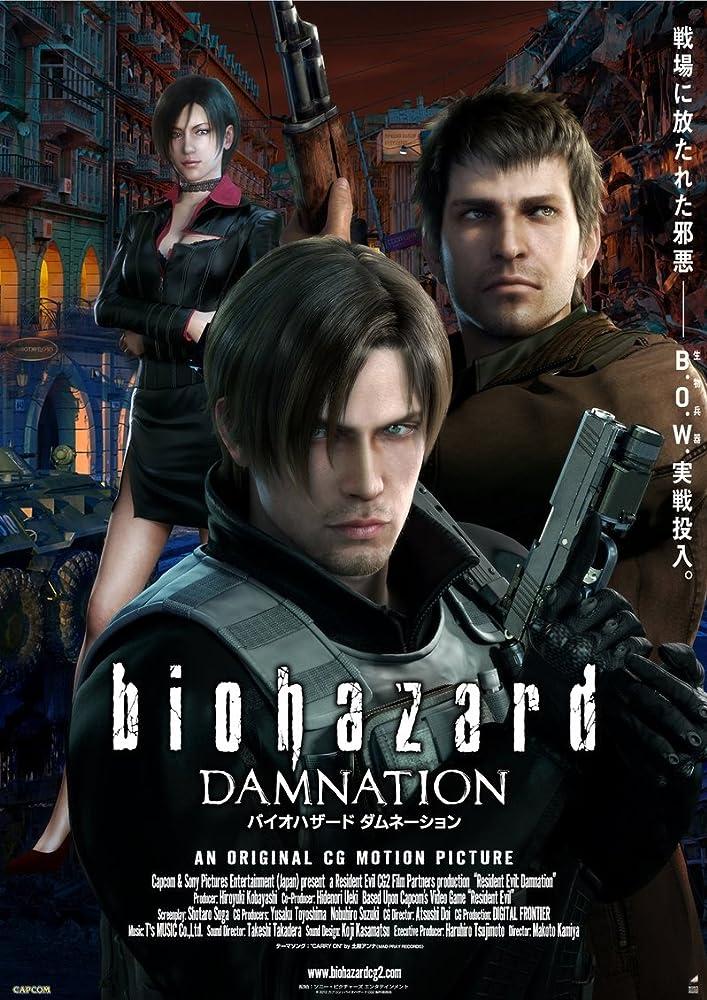 Resident Evil Damnation 2012 Dual Audio Hindi 300MB BluRay 480p x264 ESubs