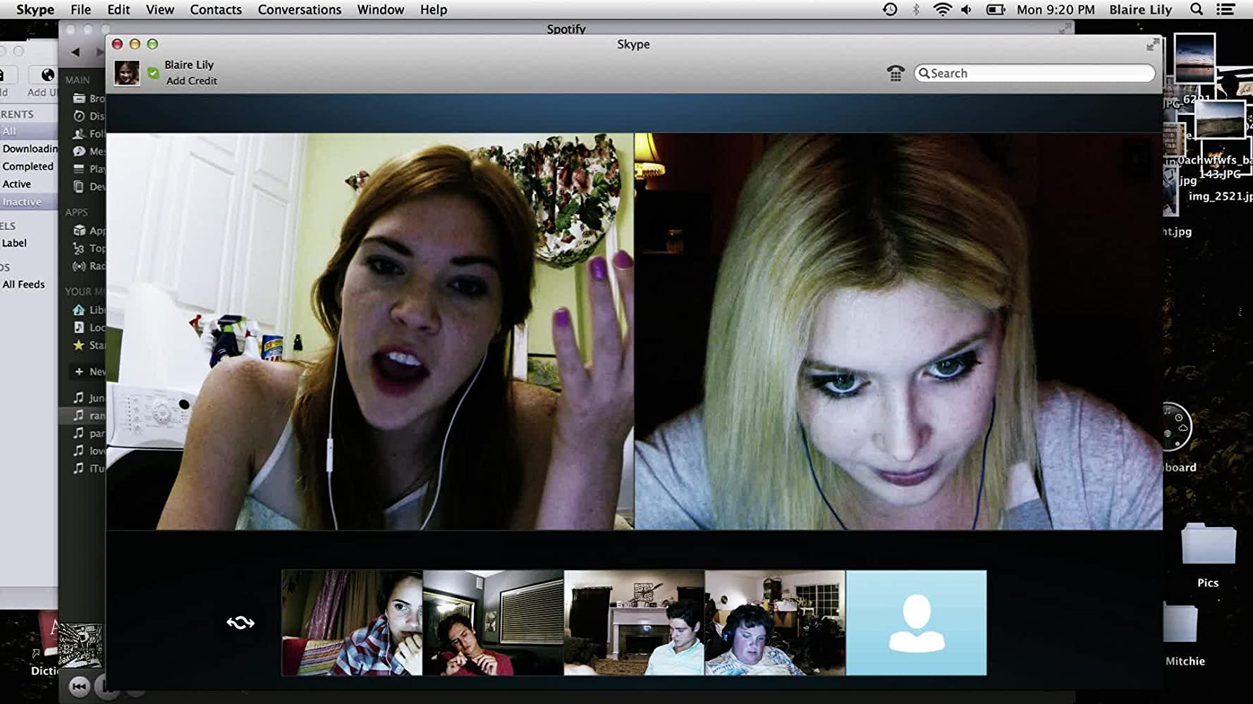 Courtney Halverson, Will Peltz, Jacob Wysocki, and Moses Storm in Unfriended (2014)