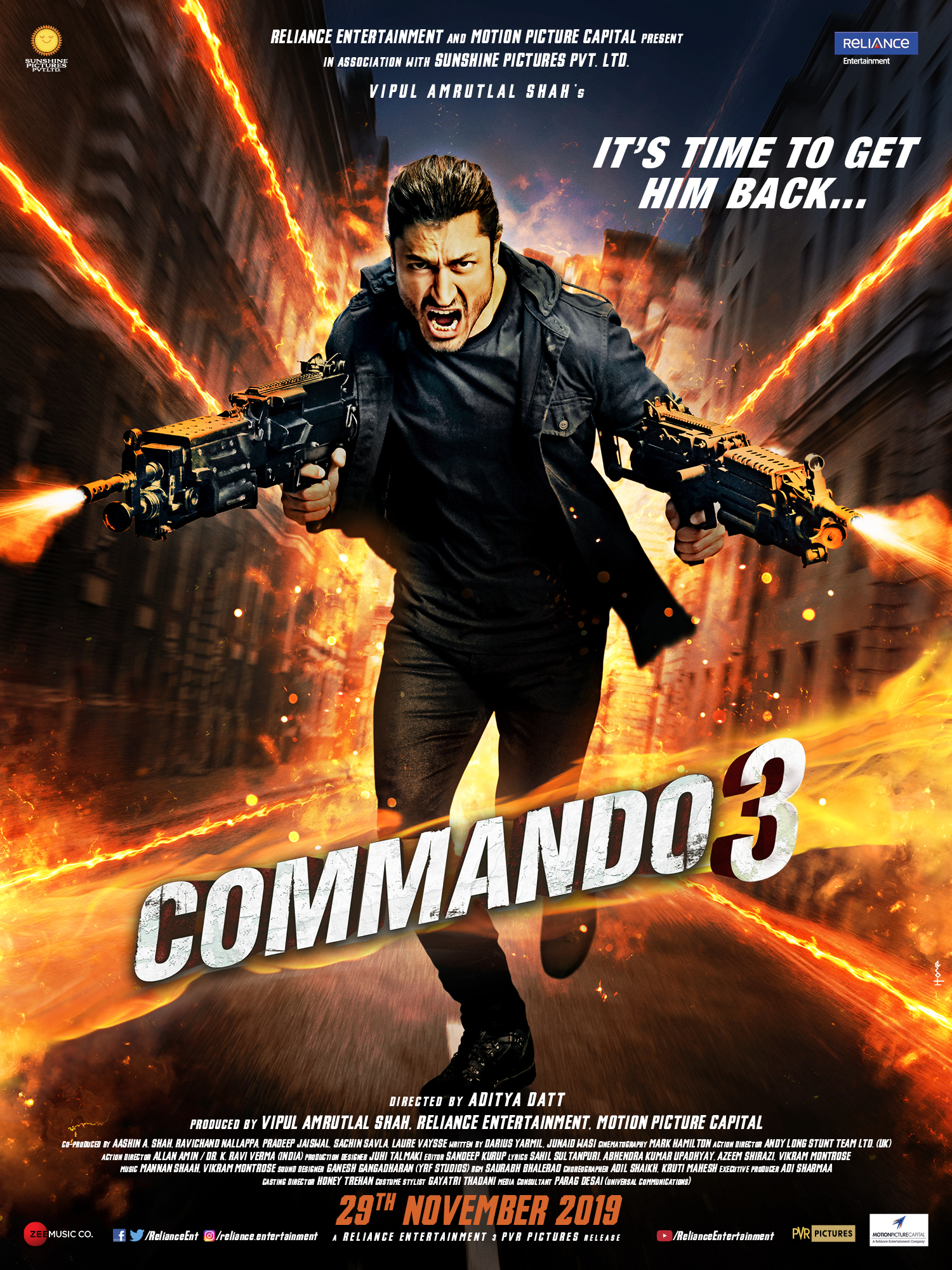 Commando 3 2019 Hindi Movie HD pDVDRip Torrent Vidyut Jammwal