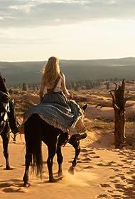 Ed Harris and Evan Rachel Wood in Westworld (2016)
