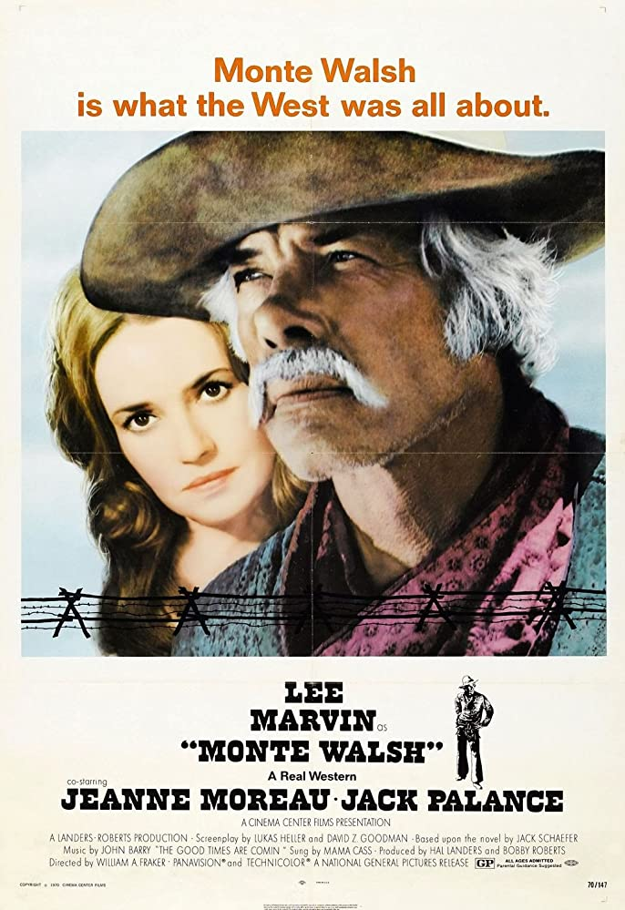 Lee Marvin and Jeanne Moreau in Monte Walsh (1970)