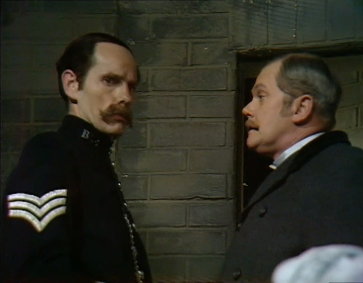 Clyde Pollitt and Nigel Stock in Sherlock Holmes (1964)