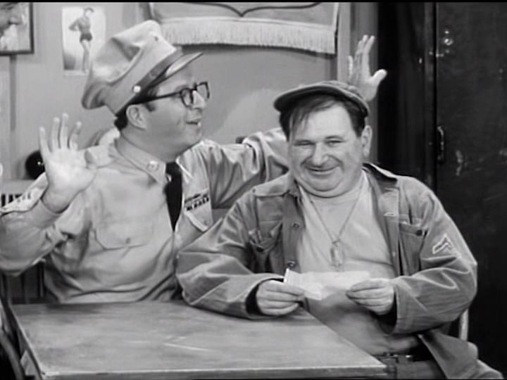 Maurice Gosfield and Phil Silvers in The Phil Silvers Show (1955)