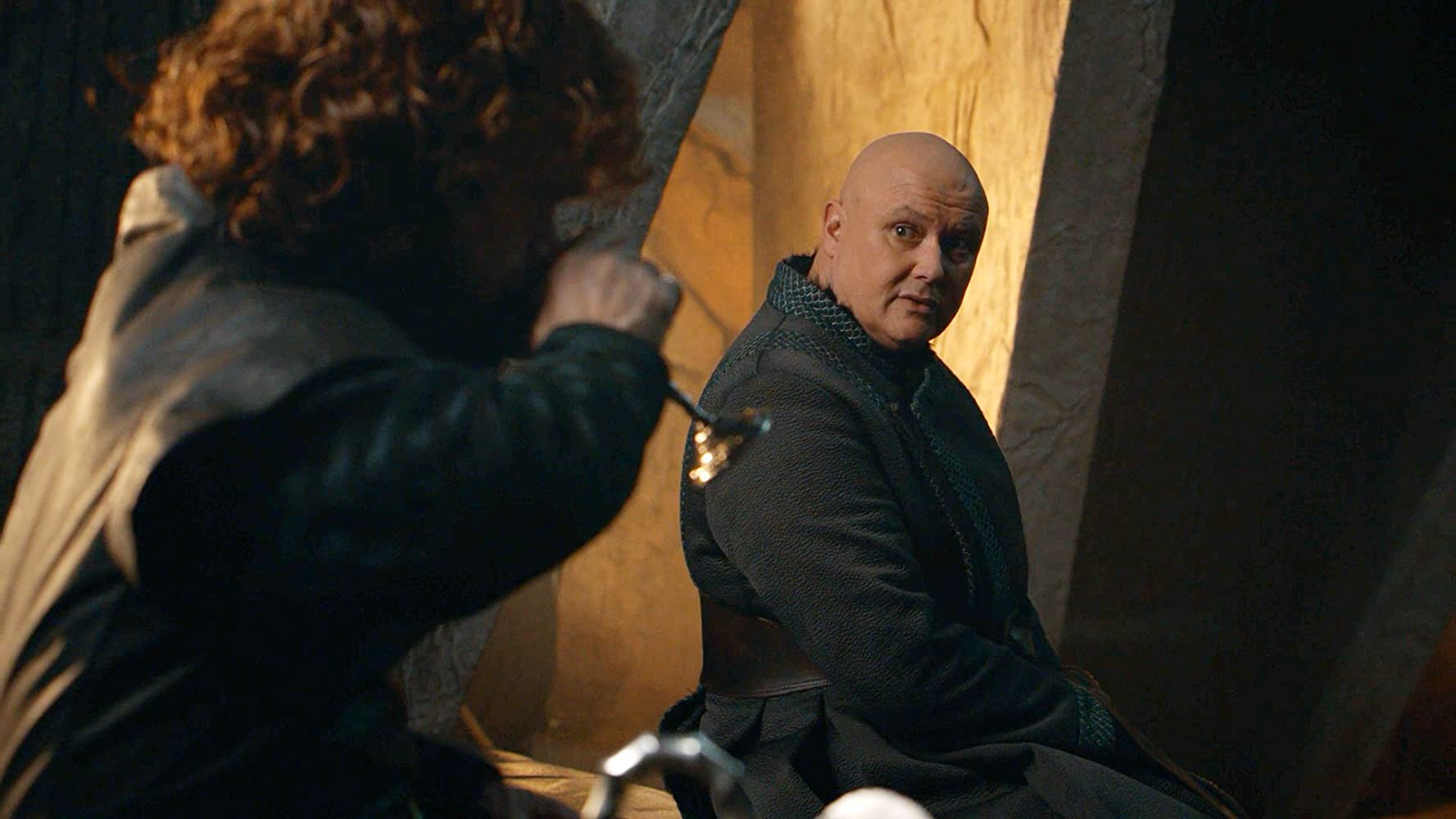 Peter Dinklage and Conleth Hill in Game of Thrones (2011)