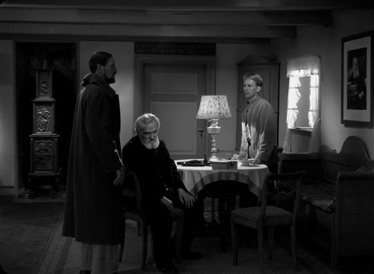 Cay Kristiansen, Preben Lerdorff Rye, and Henrik Malberg in Ordet (1955)