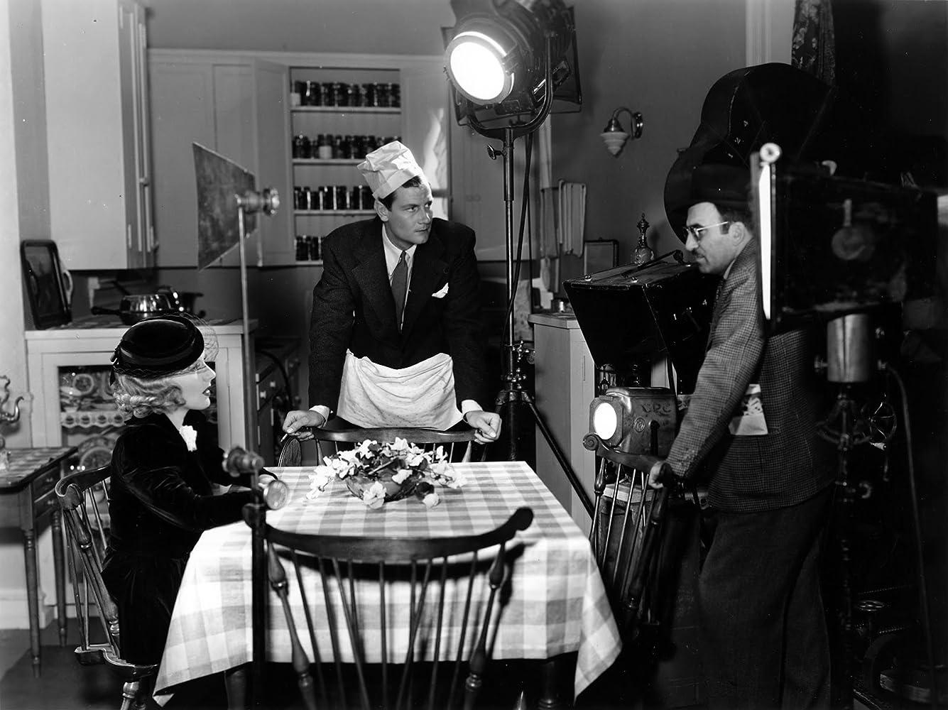 Jean Arthur, Edward Ludwig, and Joel McCrea in Adventure in Manhattan (1936)