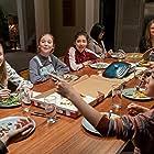Alicia Silverstone, Momona Tamada, Malia Baker, Marc Evan Jackson, Aya Furukawa, Xochitl Gomez, Shay Rudolph, and Sophie Grace in The Baby-Sitters Club (2020)