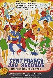 Cent francs par seconde Poster