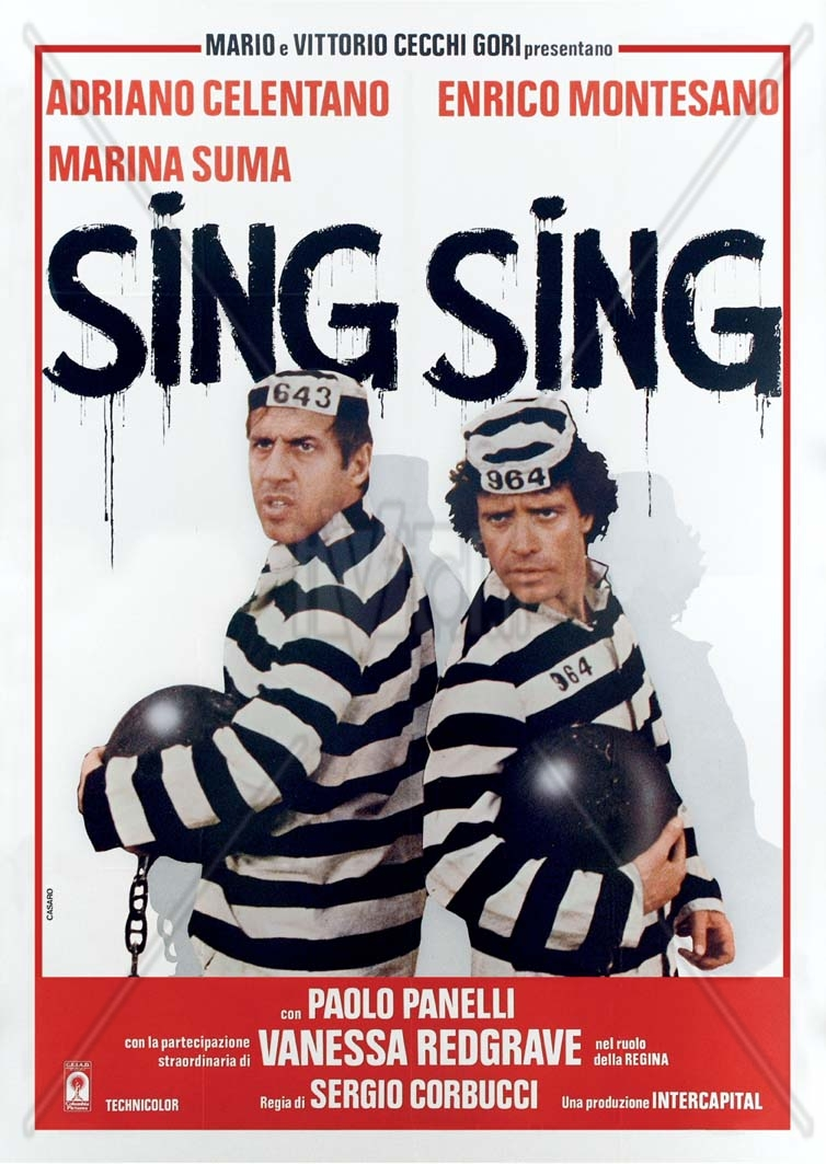Adriano Celentano and Enrico Montesano in Sing Sing (1983)
