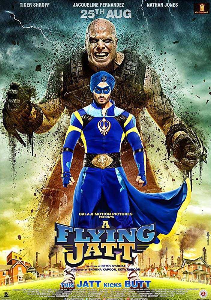 Nathan Jones and Tiger Shroff in A Flying Jatt (2016)